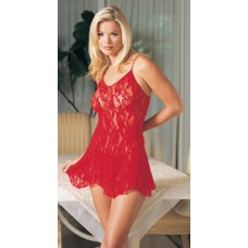 2pc Lace Chemise with G-String