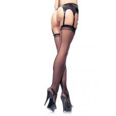 Plus Size - Sheer Backseam Stockings