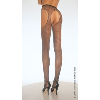 O/S - Fishnet Suspender Pantyhose